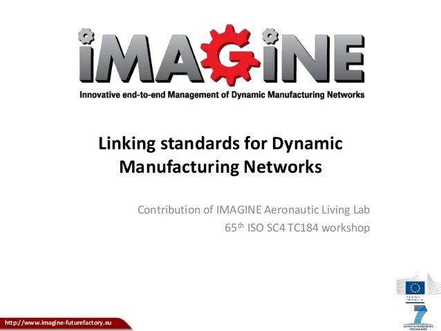 http://www.imagine-futurefactory.eu Linking standards for Dynamic Manufacturing Networks Contribution of IMAGINE Aeronauti...