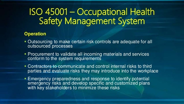 Iso Standard 45001 Occupational Health And Safety