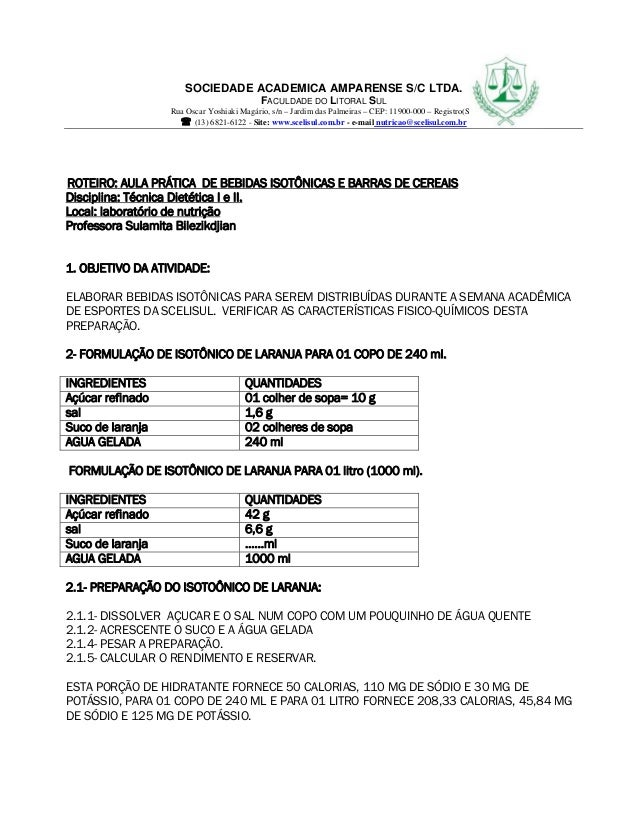 SOCIEDADE ACADEMICA AMPARENSE S/C LTDA. FACULDADE DO LITORAL SUL Rua Oscar Yoshiaki Magário, s/n – Jardim das Palmeiras – ...