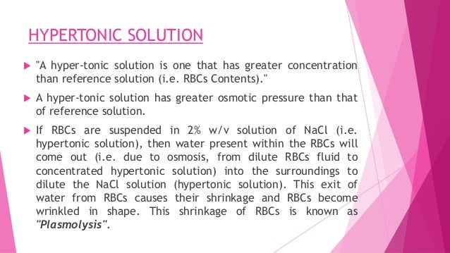 Isotonic solutions
