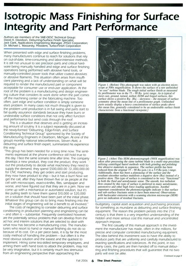 Isotropic Finishing tech article reprint