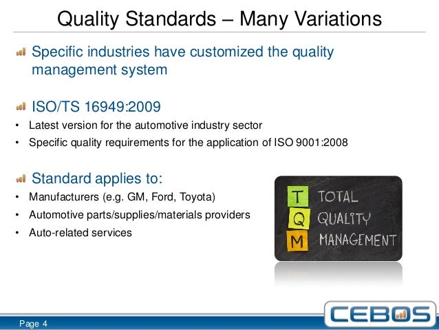 Edwards Auto Sales >> ISO TS 16949 and the Auto Industry