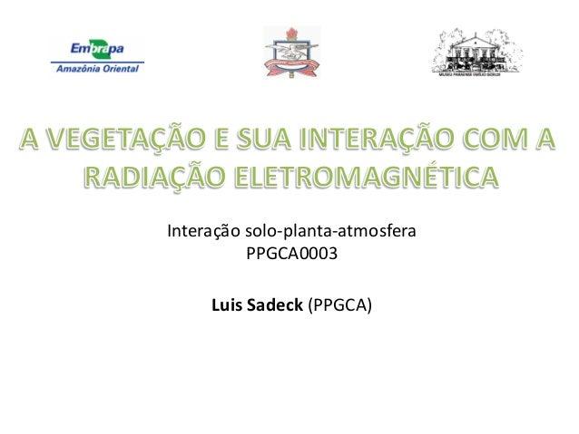 Interação solo-planta-atmosfera PPGCA0003 Luis Sadeck (PPGCA)