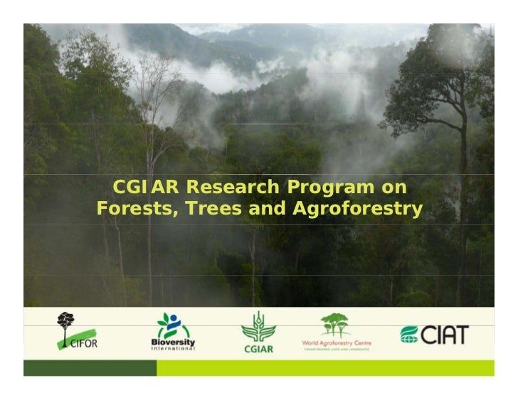 CGIAR Research Program onForests, Trees and Agroforestry