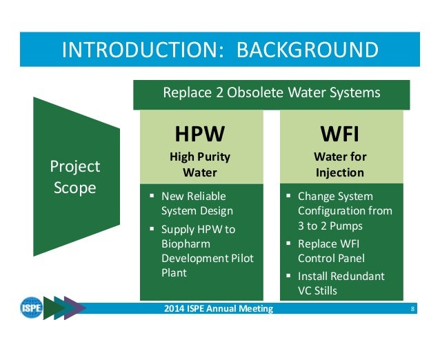 High Purity Water Project Presentation No Unplanned Downtime
