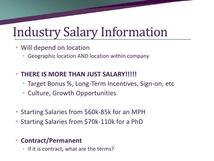 ... 7. Industry Salary ...