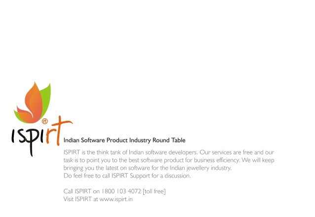 ®  ' ' r Indian Software Product Industry Round Table SPIRT is the think tank of Indian software developers.  Our services...