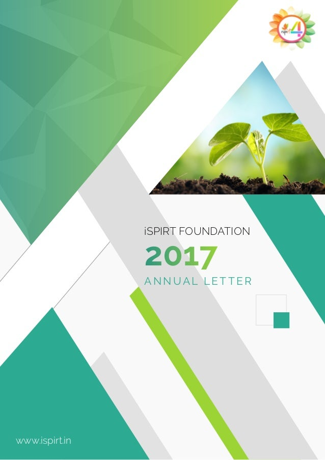 2017 iSPIRT FOUNDATION ANNUAL LETTER www.ispirt.in