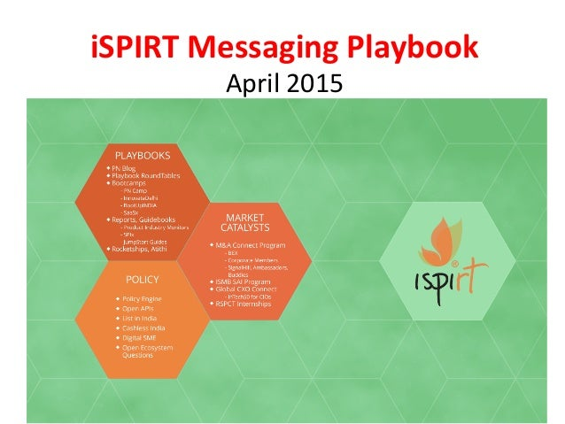 iSPIRT	   Messaging	   Playbook	    April	   2015