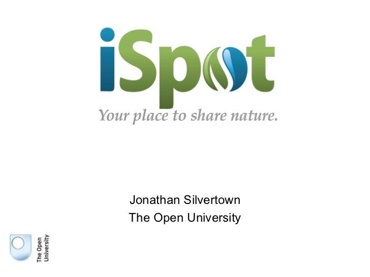 Jonathan Silvertown The Open University