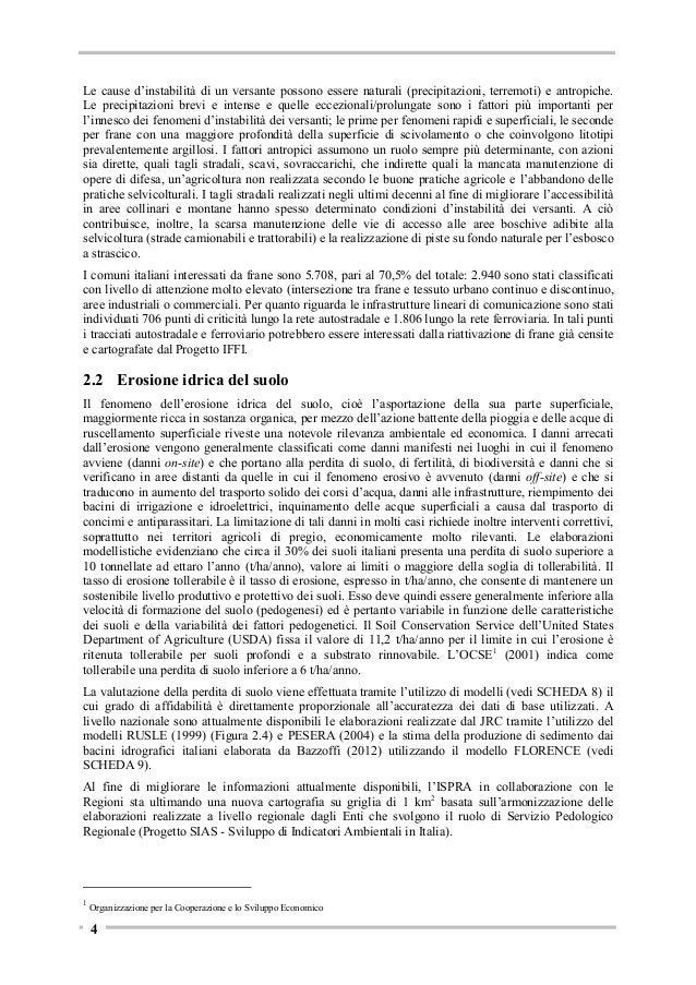 Tabella 3.1 - Distribuzione dei seminativi (Corine Land Cover 2006) per classi di acclività acclività Seminativo pianura  ...