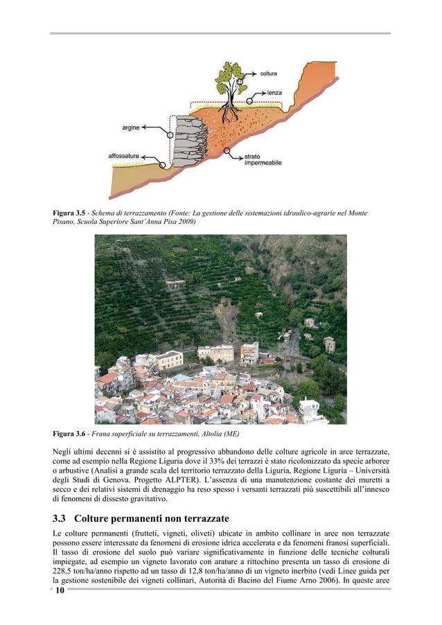 Figura 3.10 - Distribuzione delle superfici boschive in Italia e boschi interessati da fenomeni franosi (elaborazioni da I...