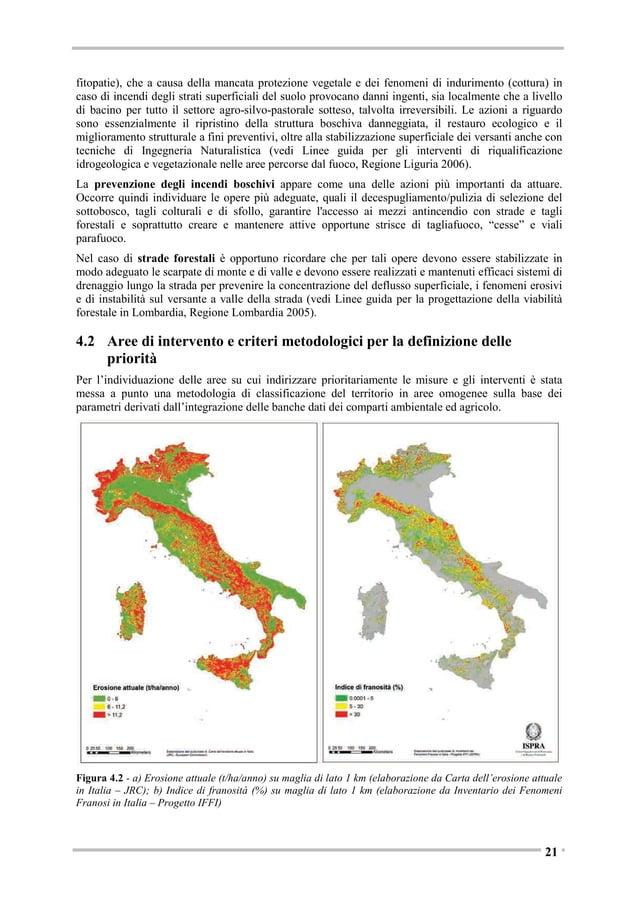 Valori fondiari (.000 euro/ettaro) <5 10 - 20 20 - 40 40 - 60 60 - 100 > 100  Figura 4.6 - Valore medio 2011 dei terreni p...