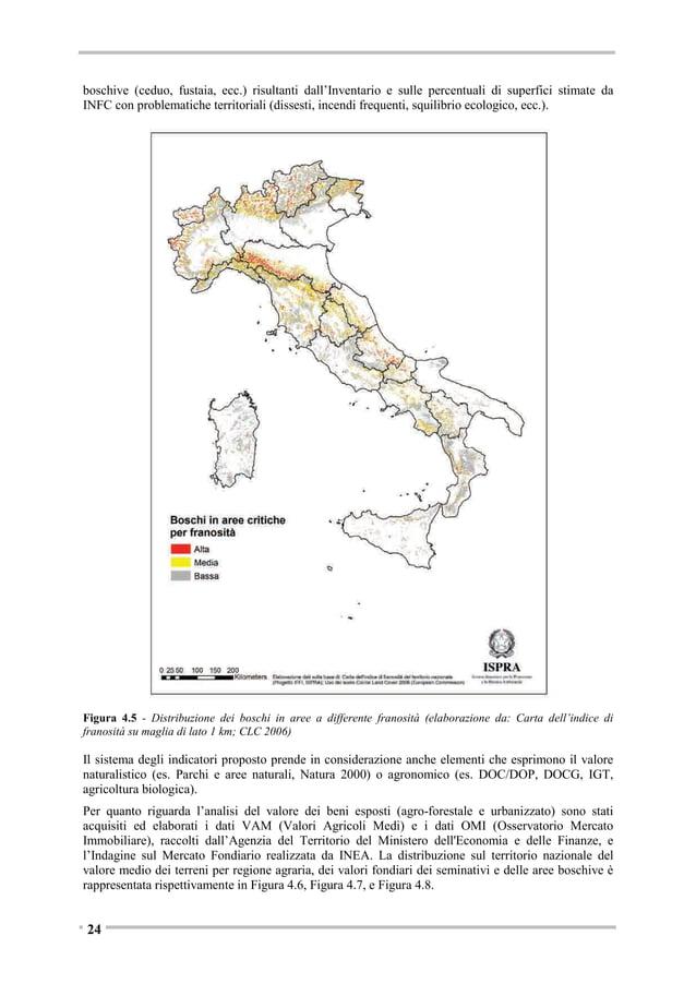 Figura 4.9 - Classificazione dell'incidenza percentuale delle superfici agricole utilizzate SAU per comune Fonte: AGEA-SIN...