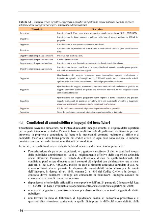 6.  BANCHE DATI DI RIFERIMENTO  Le banche dati disponibili per l'identificazione delle aree e la definizione delle misure ...
