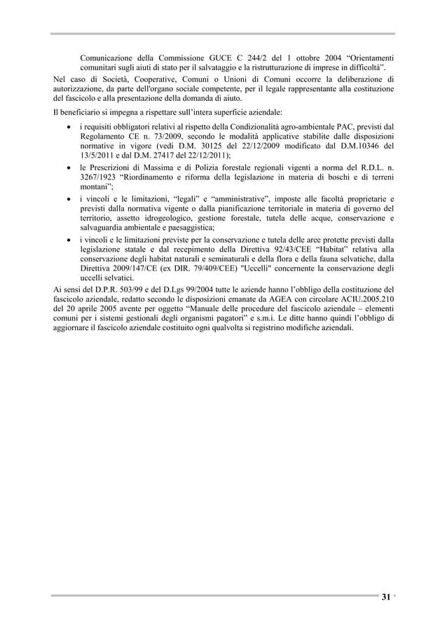 Strati di copertura del suolo ad alta risoluzione In conformità a quanto previsto dal Regolamento (UE) N. 911/2010 relativ...