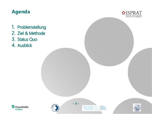 1. Problemstellung 2. Ziel & Methode 3. Status Quo 4. Ausblick Agenda – 2 –