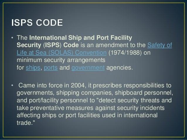 Internationale code inzake de beveiliging van schepen en havenvoorzieningen