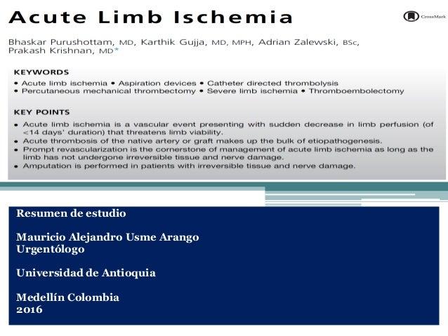 Resumen de estudio Mauricio Alejandro Usme Arango Urgentólogo Universidad de Antioquia Medellín Colombia 2016