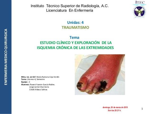 Instituto Técnico Superior de Radiología, A.C. Licenciatura En Enfermería Unidas: 4 TRAUMATISMO Tema ESTUDIO CLÍNICO Y EXP...