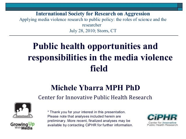 International Society for Research on AggressionApplying media violence research to public policy: the roles of science an...