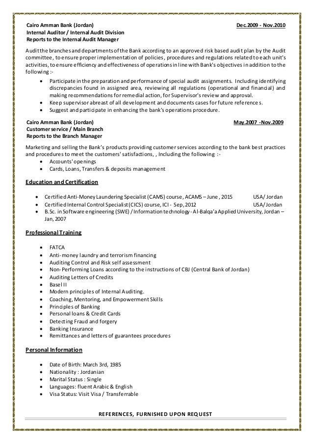 israa almomani banking audit resume