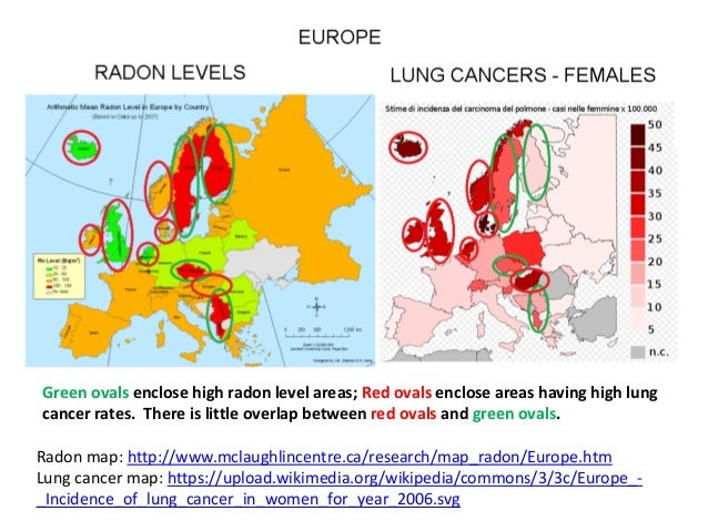 the link between radon gas and lung cancer What is the evidence a european study, funded by cancer research uk and the european commission showed that radon in the home increases the risk of lung cancer 1.