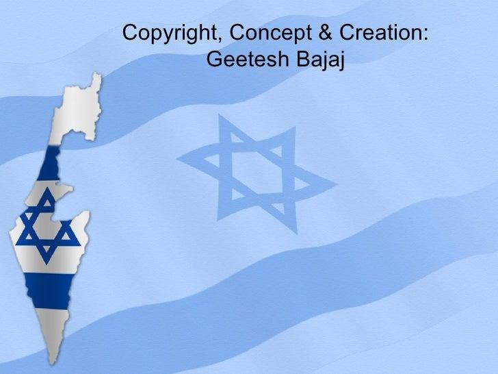 israel map powerpoint presentation template - map powerpoint template, Modern powerpoint