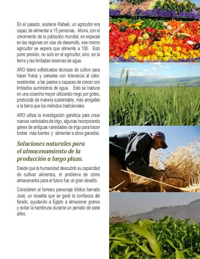 Hoy, el Instituto Volcani ayuda a satisfacer el  apetito mundial, durante un año de producción  de productos frescos, ofre...