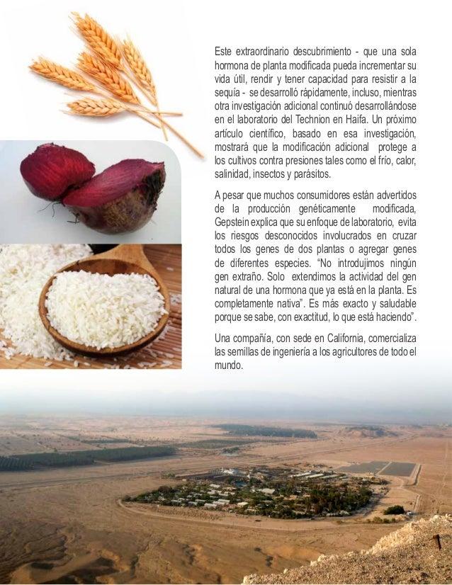 CONOCIMIENTOS Y EXPERIENCIA  AL SERVICIO DEL MUNDO  Israel ha estado compartiendo los  conocimientos y experiencias con  l...
