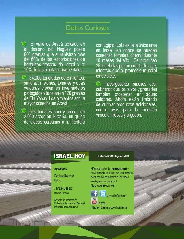 """DESERTECH MOSTRÓ  PRODUCTOS AGRÍCOLAS  INNOVADORES  La última feria agrícola """"Desertech"""" realizada en el Aravá, presentó  ..."""