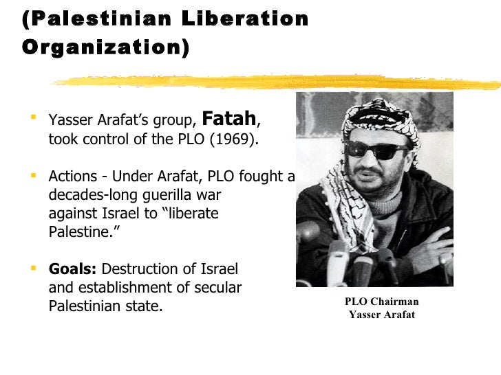 plo essay The palestine liberation organization (plo) is undoubtedly one of the most infamous terrorist organizations around the world created in 1964 during the arab league.