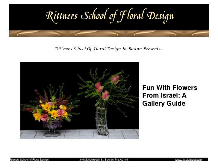 Rittner Floral School                                                                           Fun With Flowers From Isra...