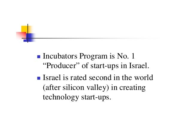 Israel technology incubators 2008
