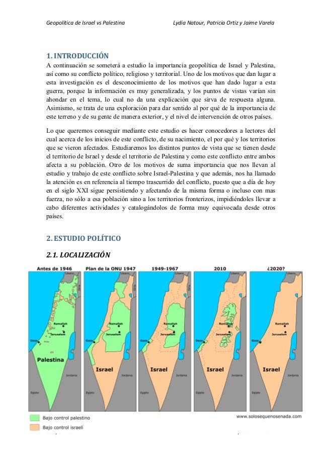 Geopolítica  de  Israel  vs  Palestina                                      ...