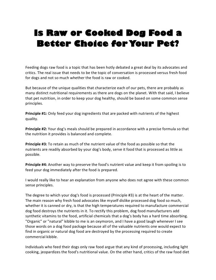 Raw Dog Food Advertising Site
