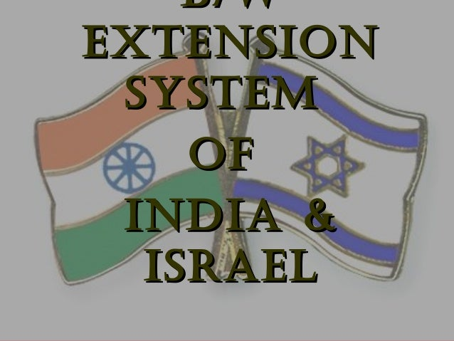 B/WB/W ExtENSIONExtENSION SyStEMSyStEM OfOf INdIA &INdIA & ISRAElISRAEl