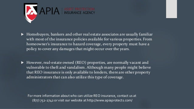  Homebuyers, bankers and other real estate associates are usually familiar with most of the insurance policies available ...