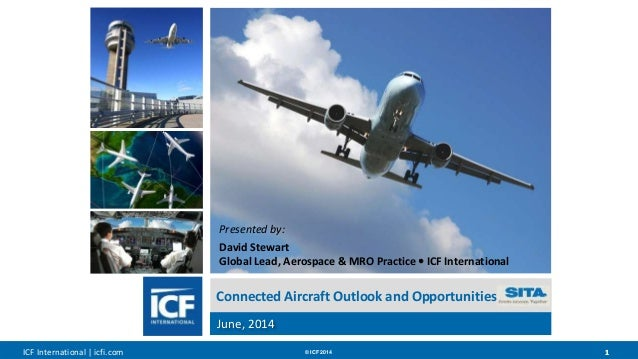 ICF International   icfi.com © ICF 2014 11 Connected Aircraft Outlook and Opportunities June, 2014 Presented by: David Ste...