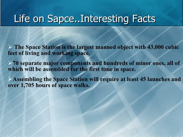 High Quality Life On Sapce..Interesting Facts ...