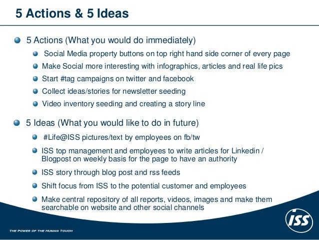 ISS Corporate Communication and Social Media Strategy