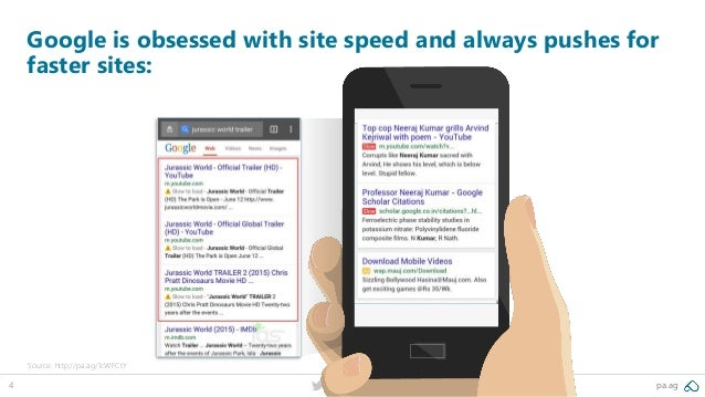 4 @peakaceag pa.ag Google is obsessed with site speed and always pushes for faster sites: Source: http://pa.ag/1cWFCtY