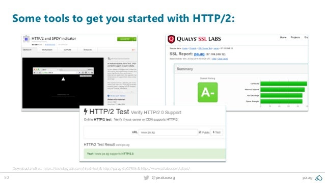 50 @peakaceag pa.ag Some tools to get you started with HTTP/2: Download and test: https://tools.keycdn.com/http2-test & ht...