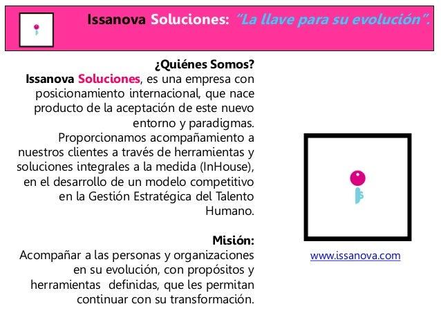 """Issanova Soluciones: """"La llave para su evolución"""".                           ¿Quiénes Somos?  Issanova Soluciones, es una ..."""