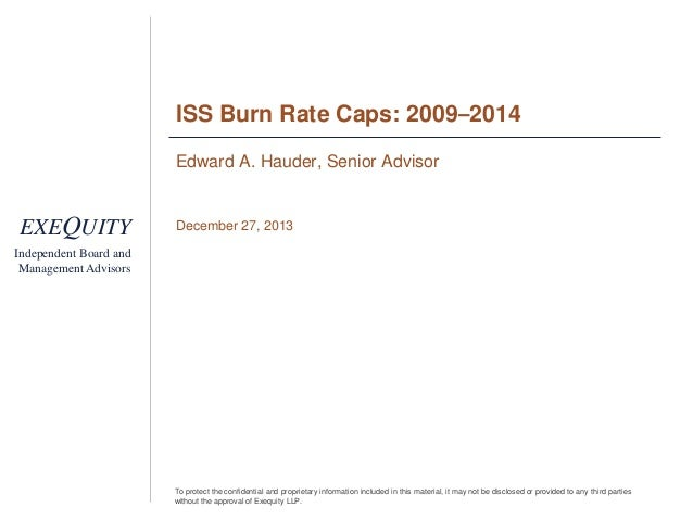 ISS Burn Rate Caps: 2009–2014 Edward A. Hauder, Senior Advisor  EXEQUITY  December 27, 2013  Independent Board and Managem...