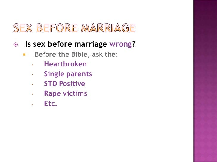 Bible against sex before marriage