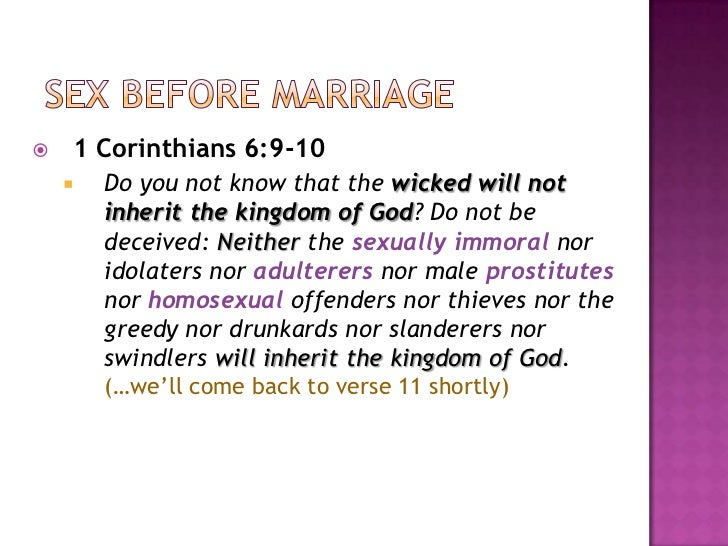 Having sex before marriage christians