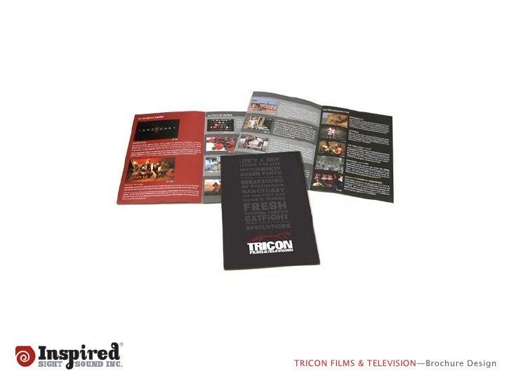 TRICON FILMS & TELEVISION—Brochure Design