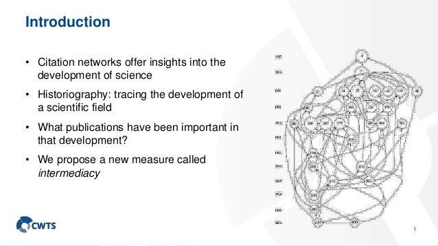 Intermediacy of publications Slide 2