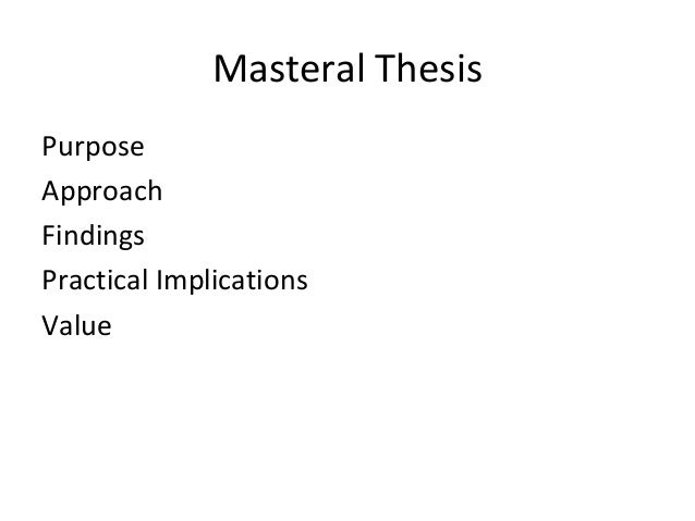 practical implications thesis